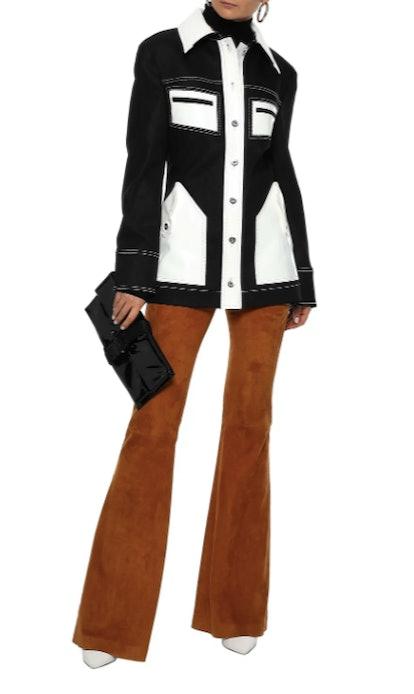 Spector vinyl-paneled denim jacket