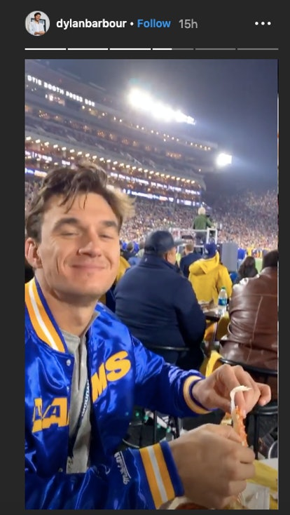 Tyler C. joins Bachelor costars at a football game.
