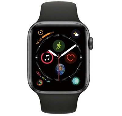 Apple Watch Series 4 (GPS) 44mm Space Gray Aluminum Case with Black Sport Band - Space Gray Aluminum