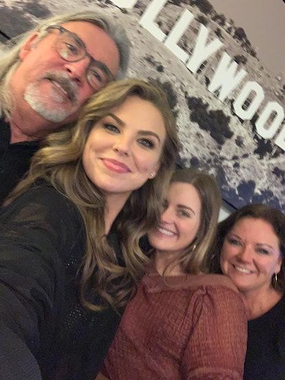 Hannah Brown and family at DWTS.