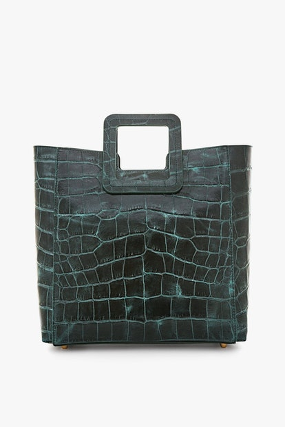 Shirley Leather Bag Ivy Croc Embossed