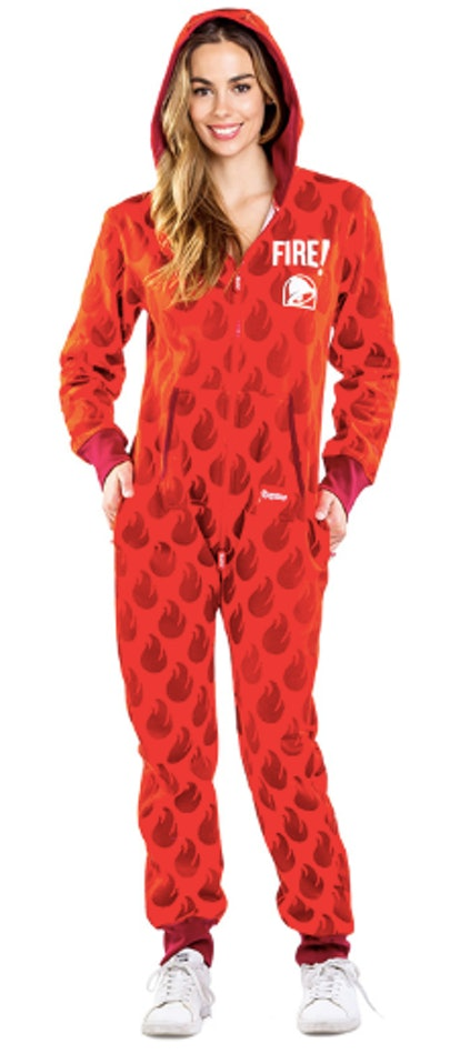 Taco Bell x Tipsy Elves Fire Sauce Packet Jumpsuit