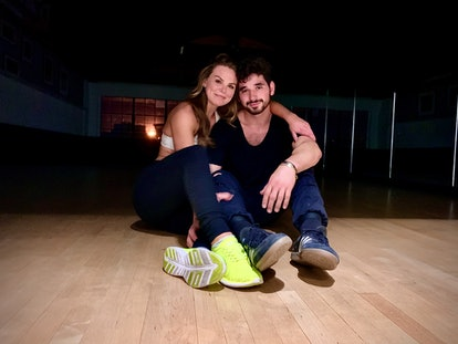 Hannah Brown and Alan Bersten rehearsing for DWTS.