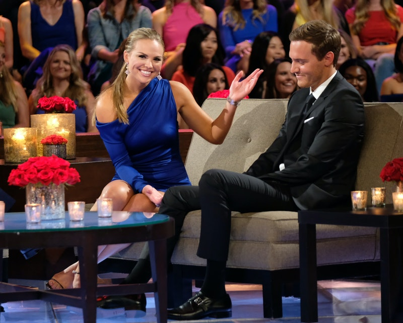 Hannah Brown and Peter Weber on The Bachelorette finale