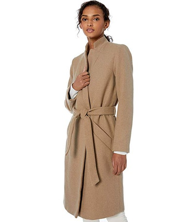 Daily Ritual Women's Wool Blend Belted Coat