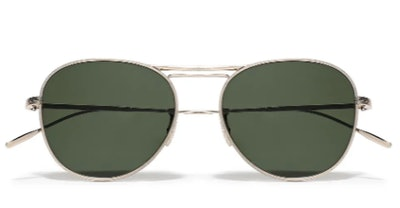 Cade aviator-style gold-tone sunglasses