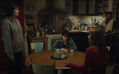 Elvira (Marina Hands) tells her family she has cancer in 'Mythomaniac'