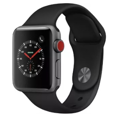 Apple Watch Series 3 GPS & Cellular 42mm Space Gray Aluminum Case with Sport Band - Black