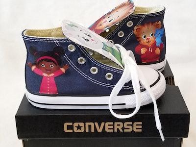 Chuckdreamz Custom Daniel Tiger Converse