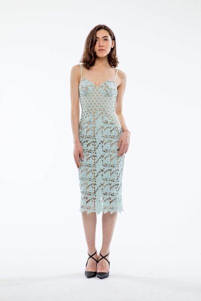 Guinevere Guipure Lace Pencil Dress