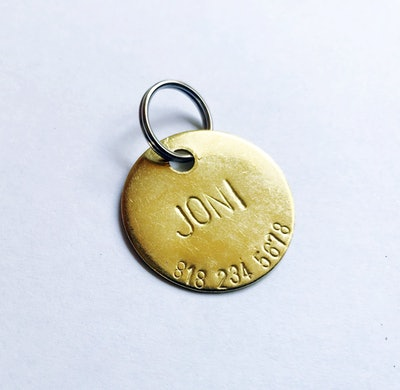 Custom Hand Hammered Pet ID Tag