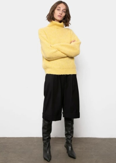Turtleneck Sweater in Sunlight Yellow