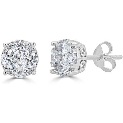 Lotus Collection 1/2 Carat Diamond Stud Earrings