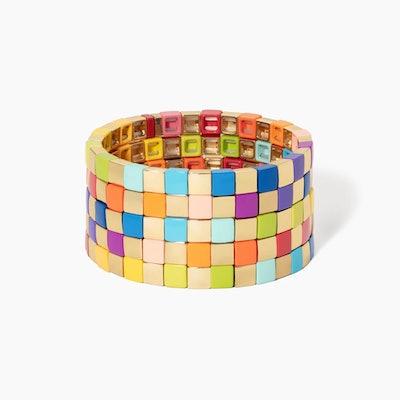 Golden Rainbow Bracelet - Set Of Five