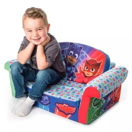 Marshmallow Furniture Children's 2 in 1 Flip Open Foam Sofa PJ Masks Flip Open Sofa