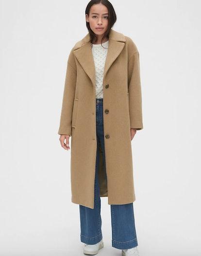 Oversized Longline Wool-Blend Coat