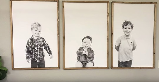 Jessa Duggar shared a DIY video on how to make minimalist kid portraits.