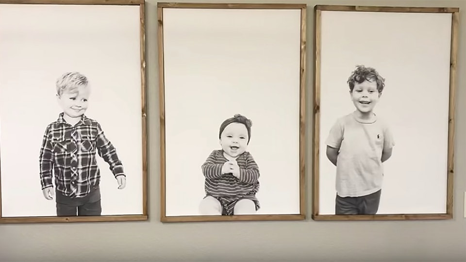 Jessa Duggar shared a DIY video on how to make minimalist kid portraits.