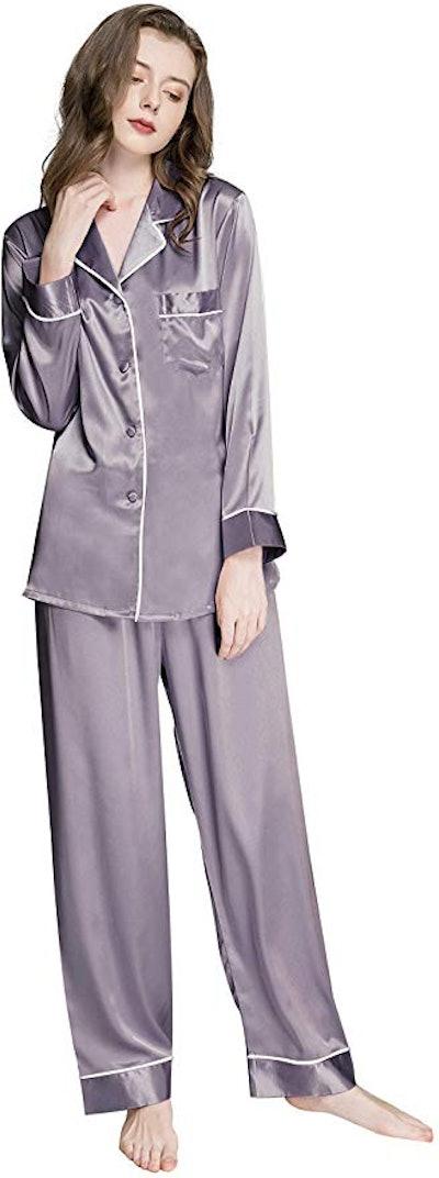 LONXU Satin Pajamas Set