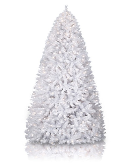 6 Ft. Winter White Christmas Tree with Lights