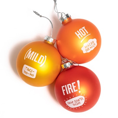 3ct Taco Bell Sauce Packet Holiday Ornament Set