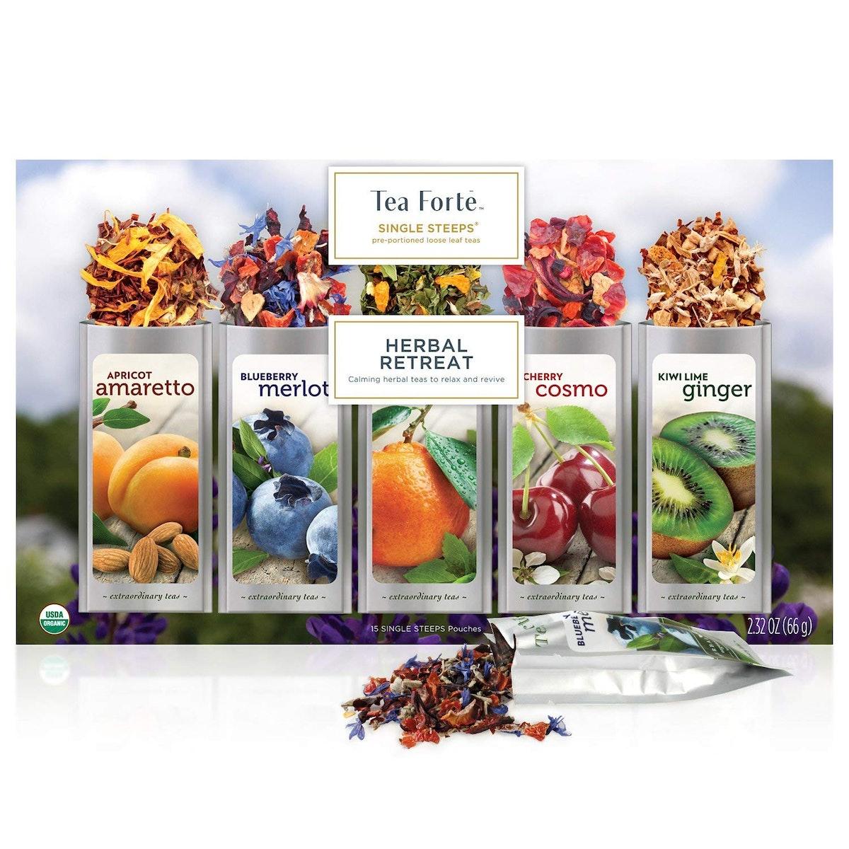 Tea Forte Single Steeps Tea Variety Pack (15-Pack)