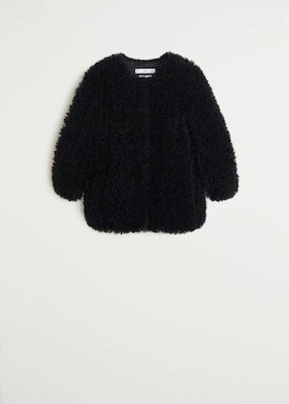 Fur Bouclé Coat