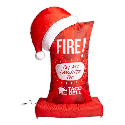 Taco Bell 6ft. Fire Sauce Packet Inflatable Airblown Holiday Decoration