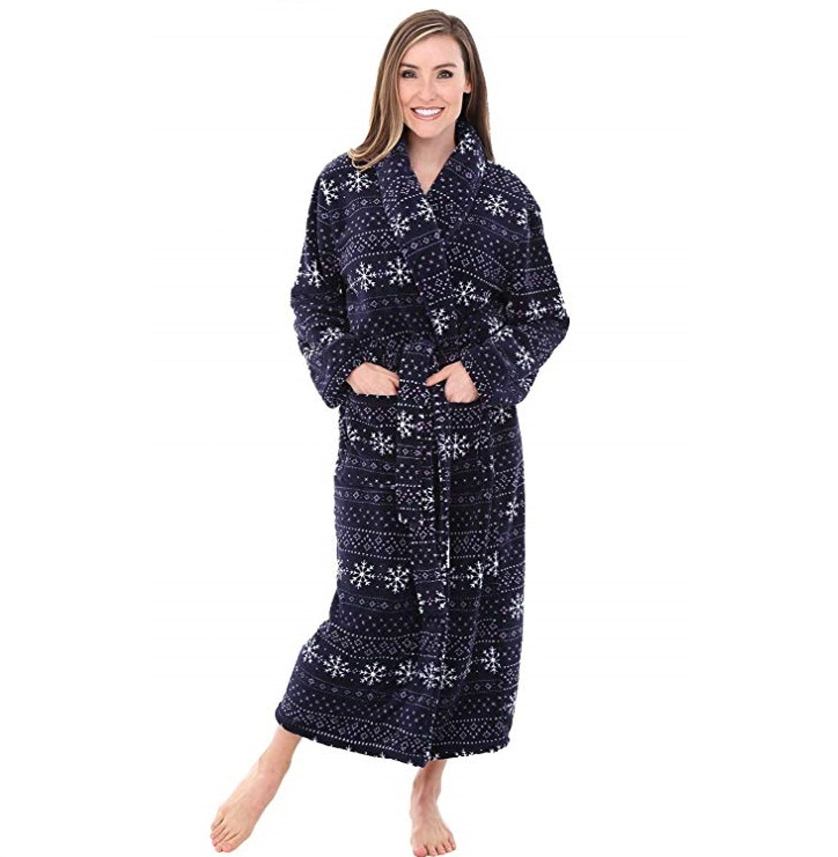 Alexander Del Rossa Women's Plush Fleece Robe