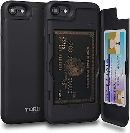 TORU CX PRO iPhone 8 Wallet Case with Hidden Credit Card Holder