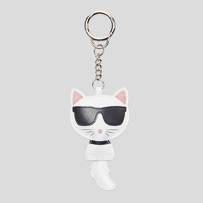 Choupette Leather Keychain