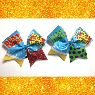 Toy Story Themed Woody and Buzz Lightyear Best Friends Bow Set