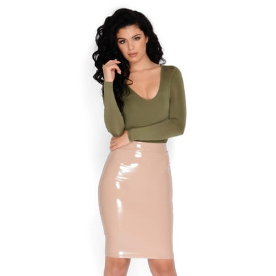 Smooth Talker Vinyl High Waisted Skirt