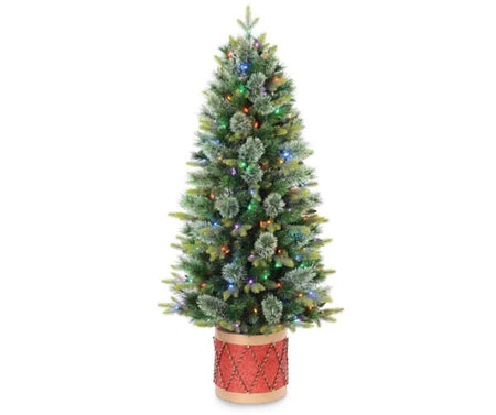 Winter Wonder Lane 5' Festive Pre-Lit Artificial Christmas Drum Base Tree
