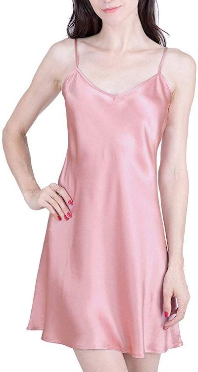 OSCAR ROSSA Silk Slip Nightgown