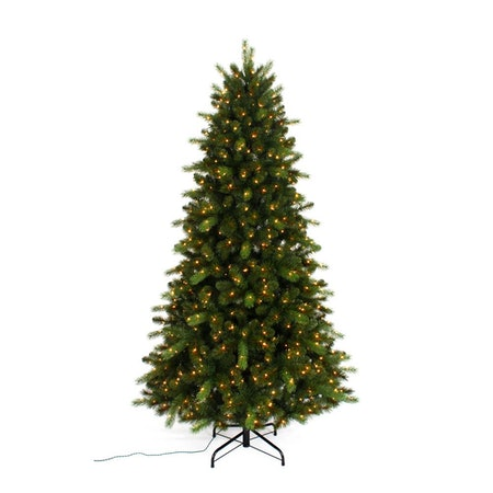 Home Accents Holiday 7.5' LED Pre-lit Braxton Christmas Tree