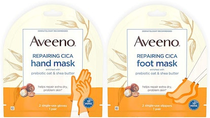 Aveeno Repairing CICA Foot Mask&Hand Mask with Prebiotic Oat and Shea Butter