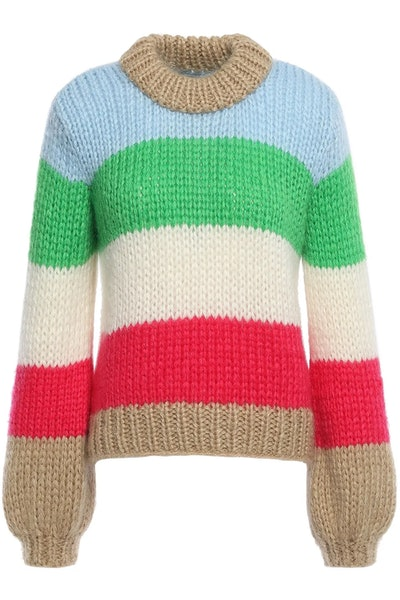 Julliard Color-Block Mohair and Wool-Blend Sweater