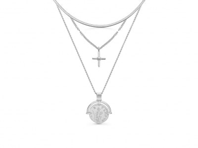 Silver Roman Holiday Necklace Set