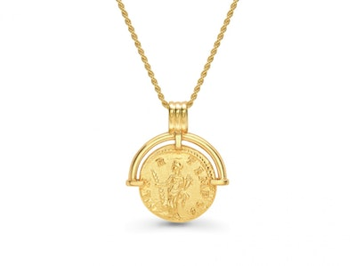 Lucy Williams Gold Roman Arc Coin Necklace