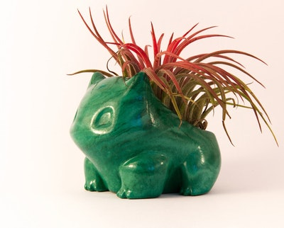 Marbled Stone Look Bulbasaur Pokémon Planter