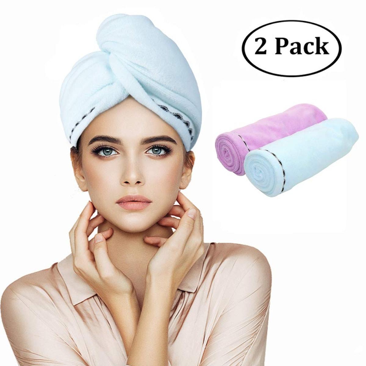 Orthland Microfiber Hair Towel Wraps (2-Pack)