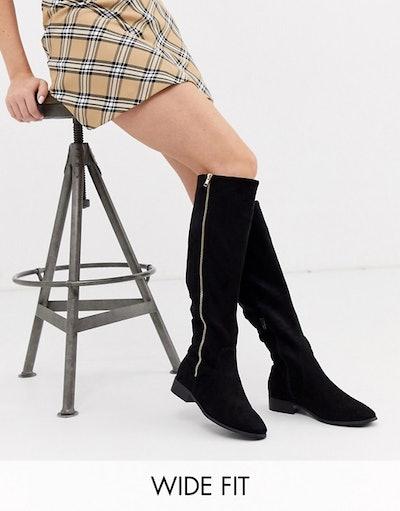 ASOS Design Wide Fit Blair Knee High Boots