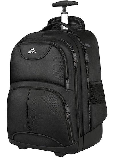 Matein Waterproof College Wheeled Laptop Backpack
