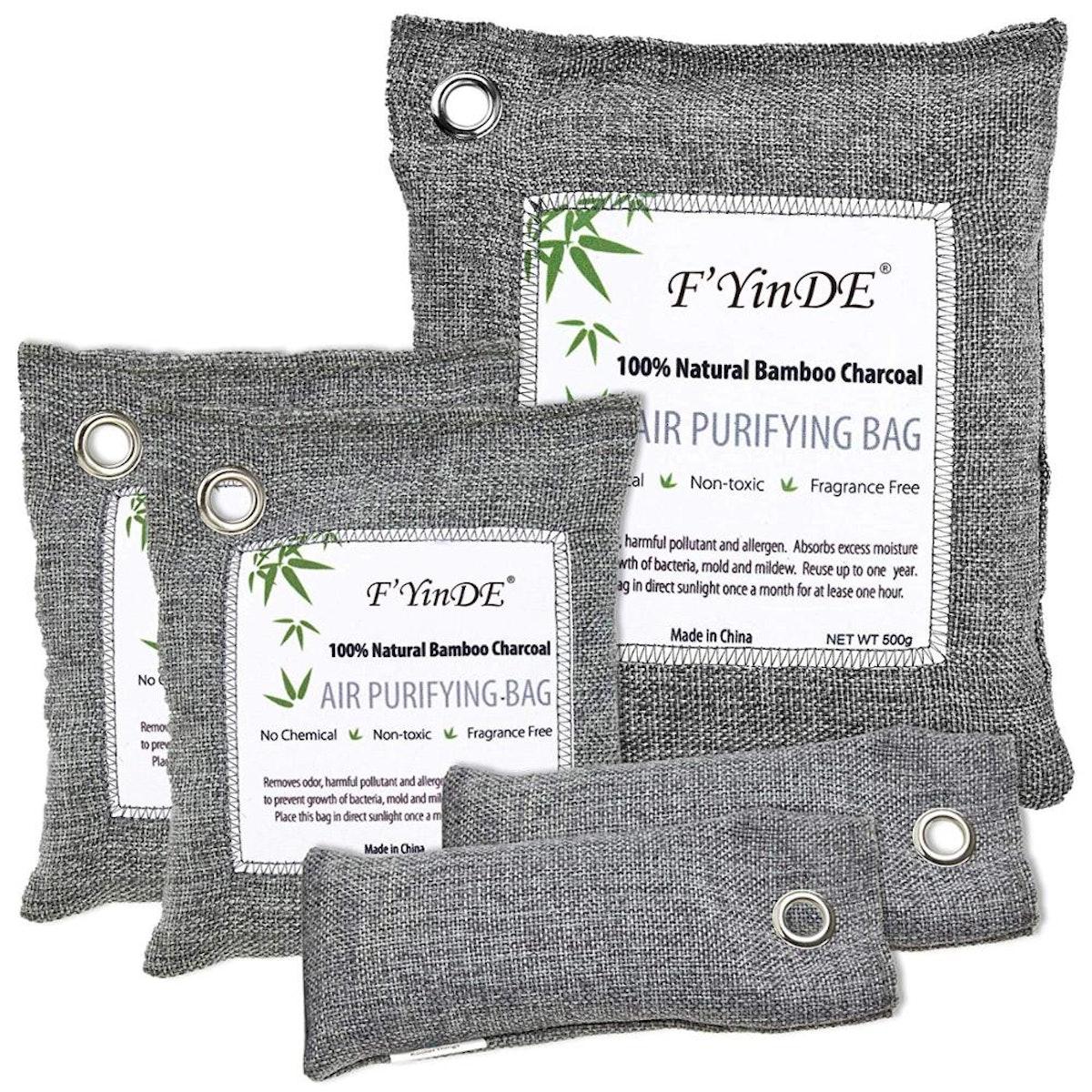 KoolerThings Bamboo Charcoal Air Purifying Bags (5-Pack)