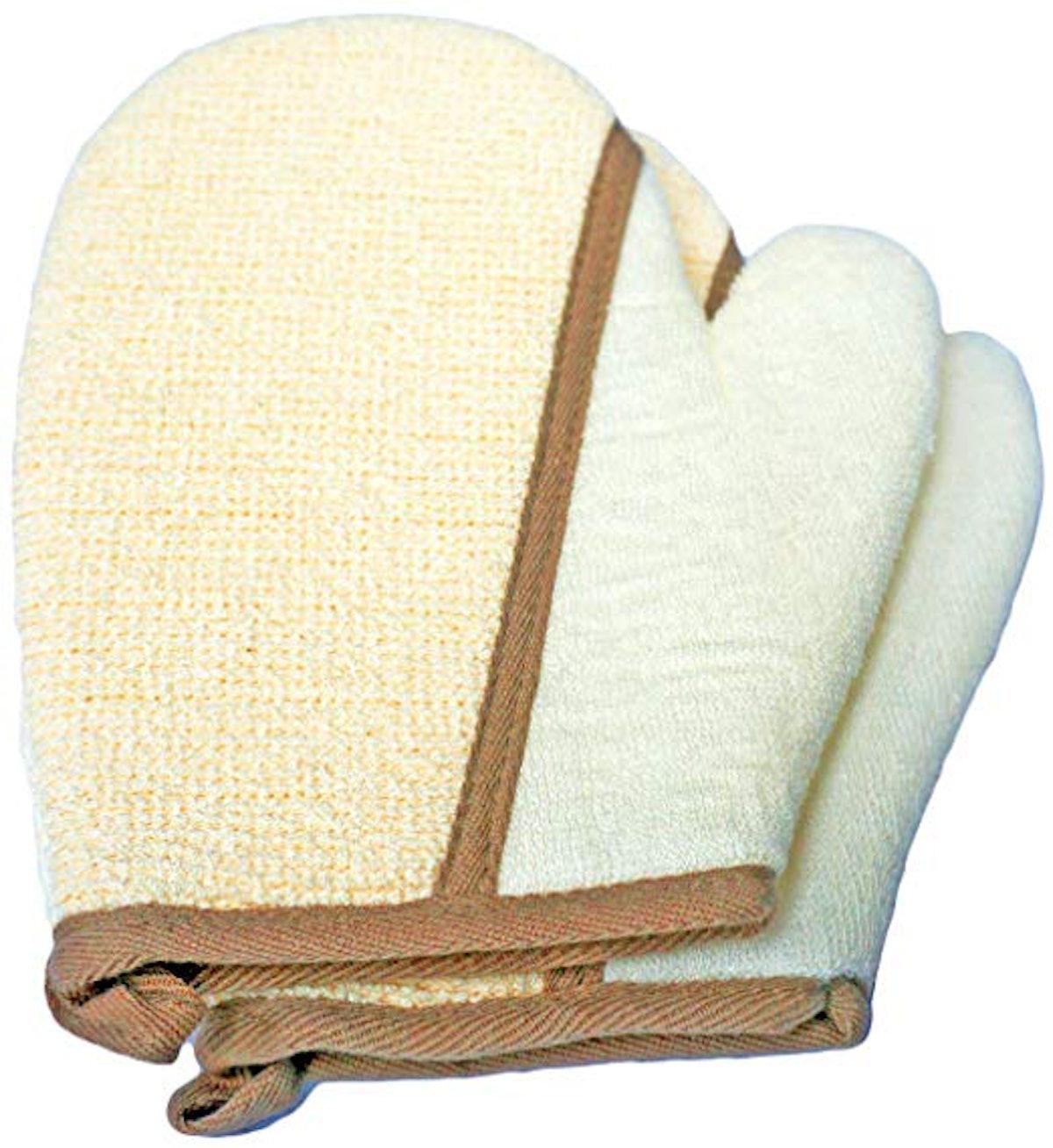 Tang Karrey Exfoliating Cotton Gloves (2 pack)
