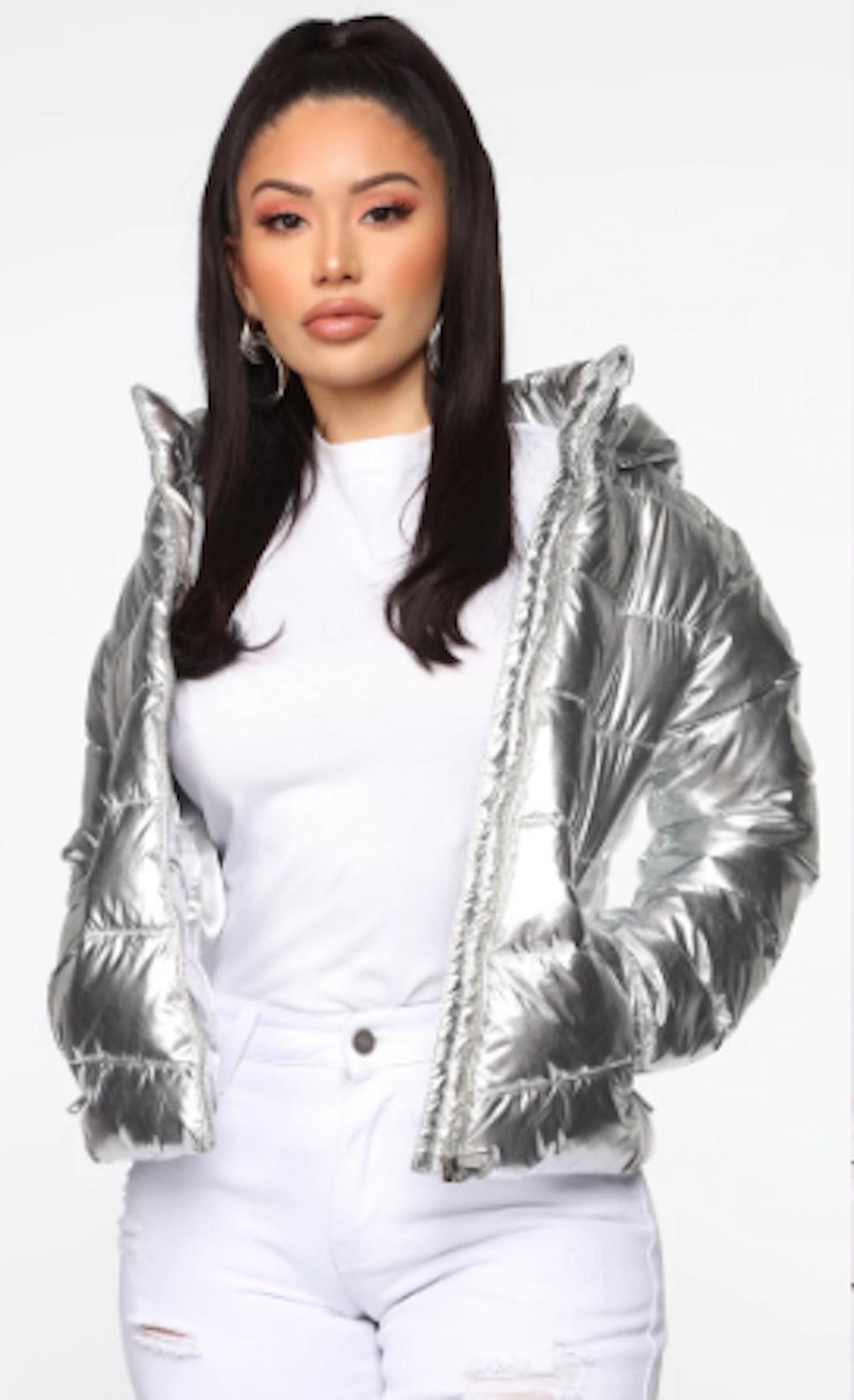 Astro Metallic Puffer Jacket