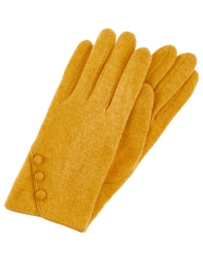 Wool Gloves With Buttons