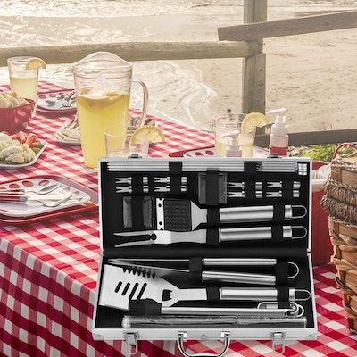ROMANTICIST BBQ Grill Accessories (23-Piece Set)