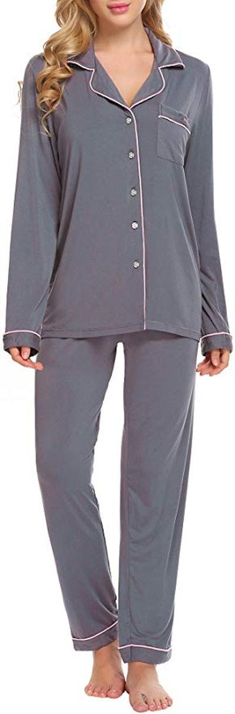 Ekouaer Long Sleeve Women's Sleepwear Set